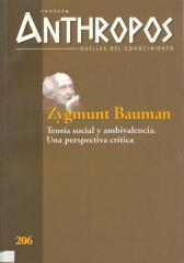 Antropos. Zygmund Bauman y Norbert Elias 001